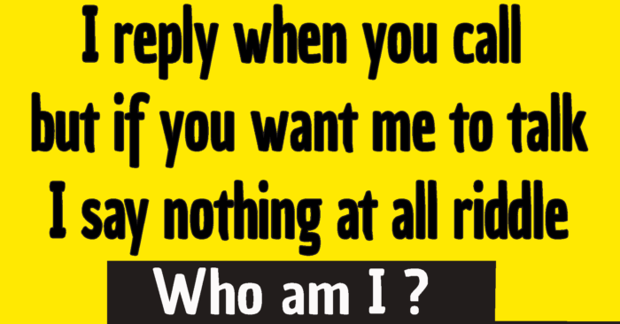 I reply when you call but if you want me to talk I say nothing at all riddle answer /  I reply when you call riddle answer