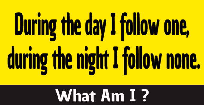 During the day I follow one during the night I follow none riddle