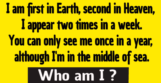 i am first in earth second in heaven riddle answer