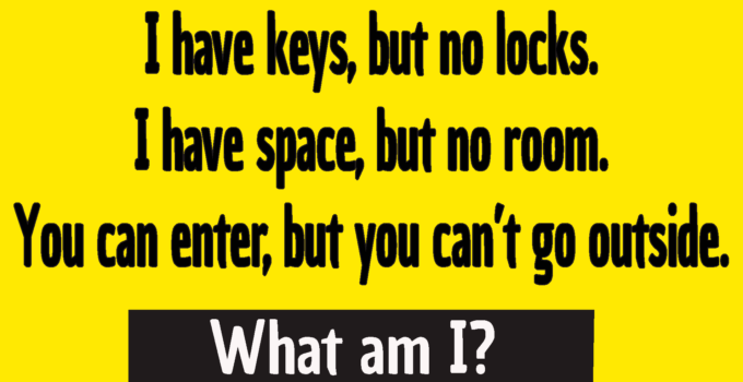 i have keys but no lock riddle answer