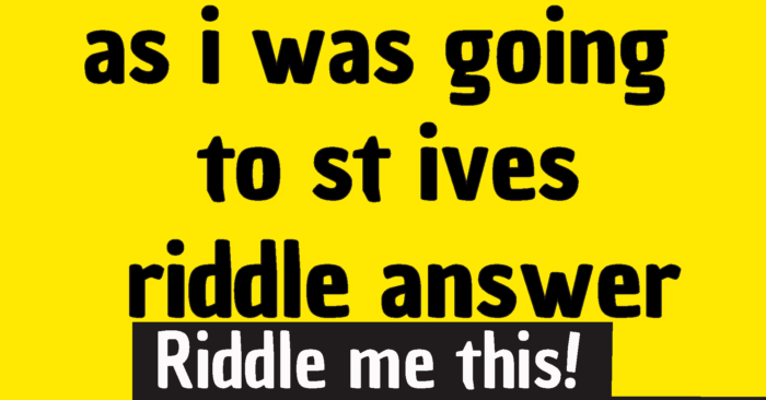 as i was going to st ives riddle answer