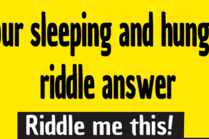 your sleeping and hungry riddle answer - you are hungry and sleeping riddle - your sleeping and hungry riddle answer - u r sleeping and hungry riddle answer - if you are sleeping and hungry riddle