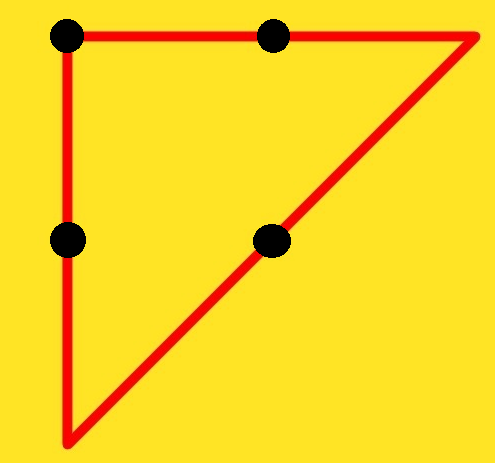 How do you connect 4 dots with 3 lines?, connect four dots with three lines, connect four dots game, connect 4 dots with 3 lines, connect 4 dots with three lines