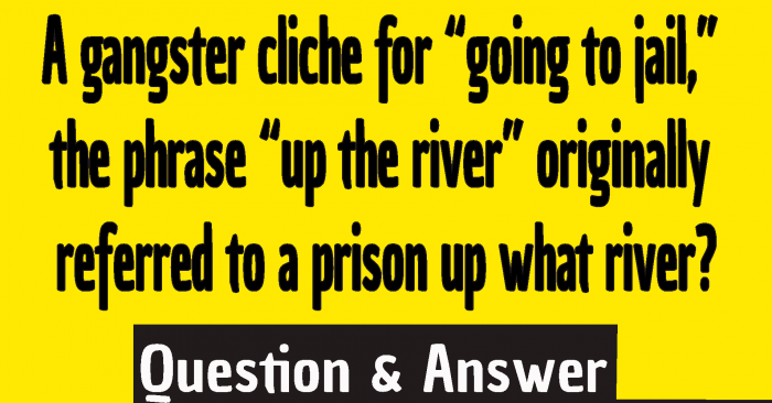 #a gangster cliche for going to jail #a gangster cliche up the river #gangster cliche up the river what river #Up the river cliche #Up the river going to jail #gangster phrase up the river