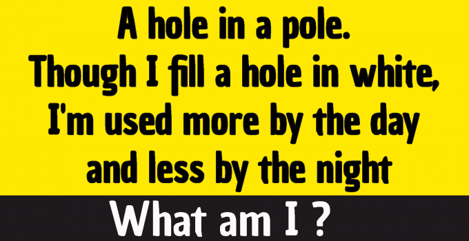 #a hole in a pole riddle answer #Answer to the Hole in a Pole Riddle answer #A hole in a pole. Though I fill a hole in white, I'm used more by the night riddle answer #A hole in a pole Though I fill a hole in white I'm used more by the night