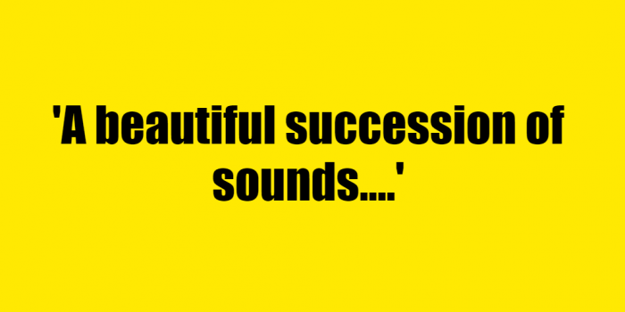 A beautiful succession of sounds. - Riddle Answer