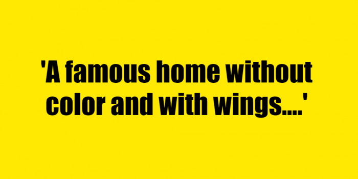 A famous home without color and with wings. - Riddle Answer