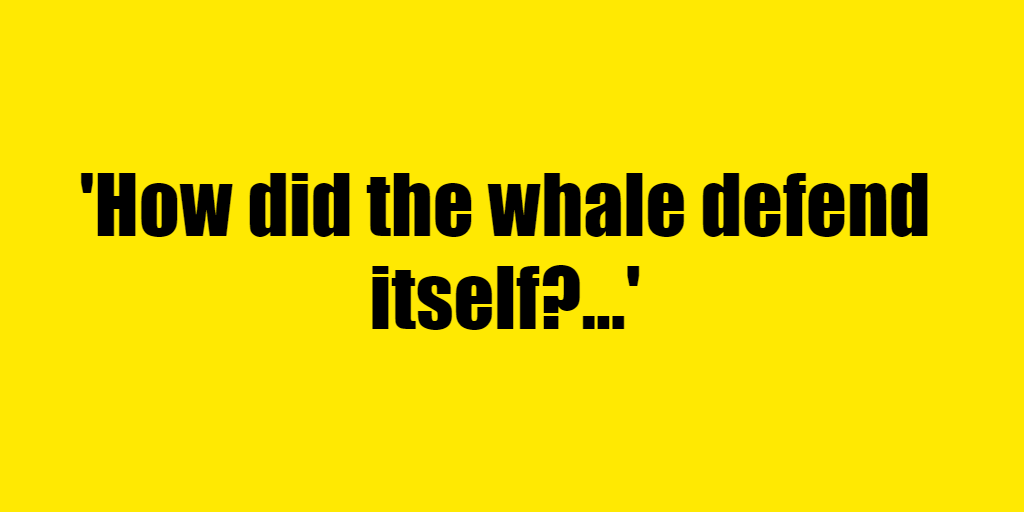 How did the whale defend itself? - Riddle Answer