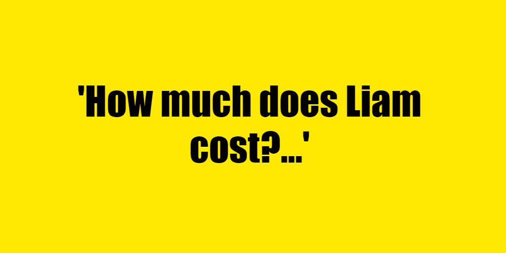 How much does Liam cost? - Riddle Answer