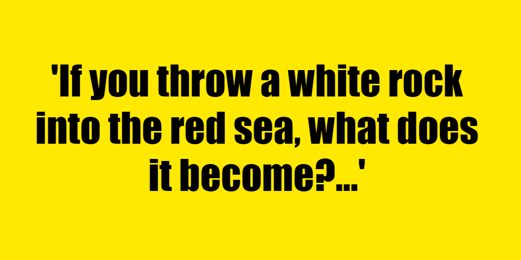 If you throw a white rock into the red sea, what does it become? - Riddle Answer