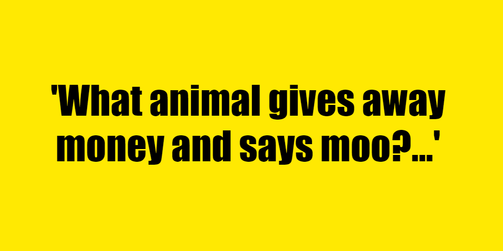 What animal gives away money and says moo? - Riddle Answer