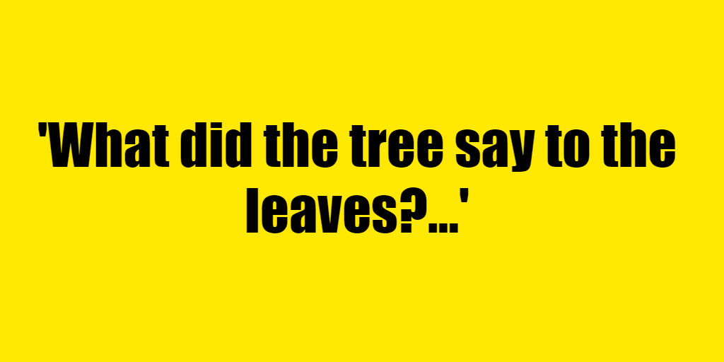 What did the tree say to the leaves? - Riddle Answer
