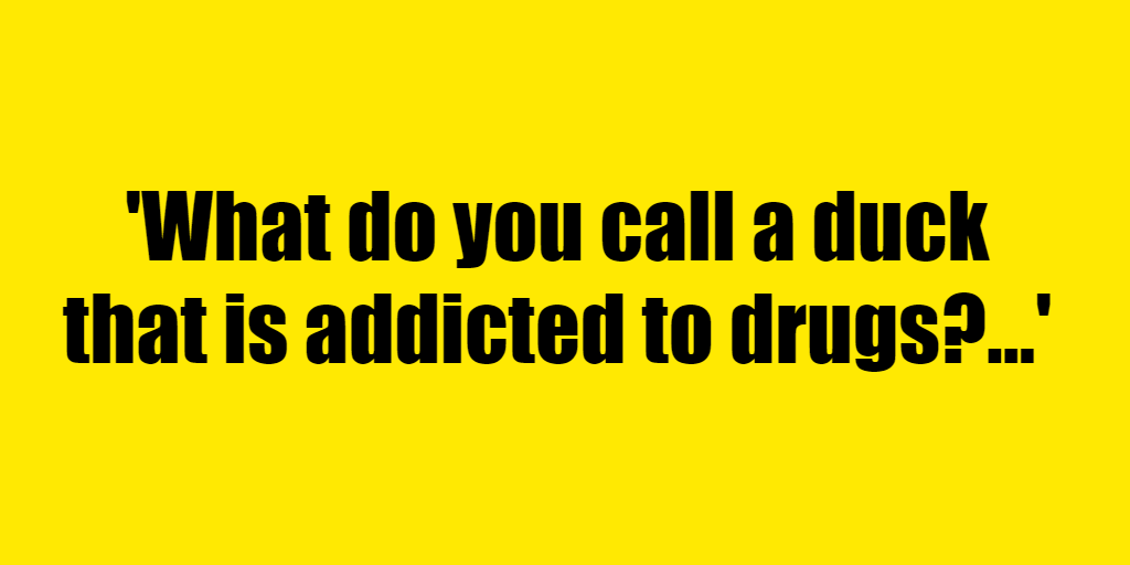 What do you call a duck that is addicted to drugs? - Riddle Answer