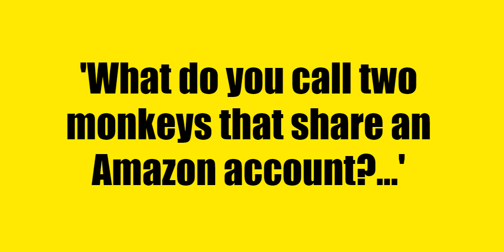 What do you call two monkeys that share an Amazon account? - Riddle Answer