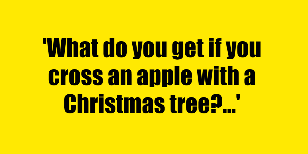 What do you get if you cross an apple with a Christmas tree? - Riddle Answer