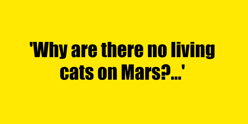 Why are there no living cats on Mars? - Riddle Answer