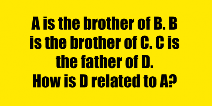 A is the brother of B Riddle Answer