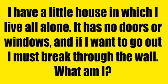 What Lives In A Tiny House All Alone Riddle Answer