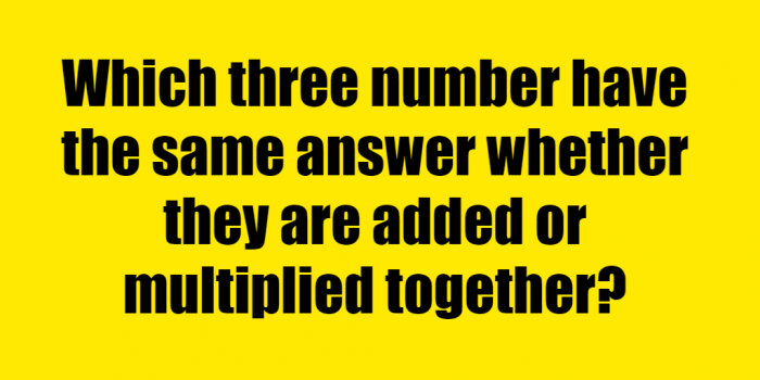 Which 3 Numbers Have The Same Answer Riddle